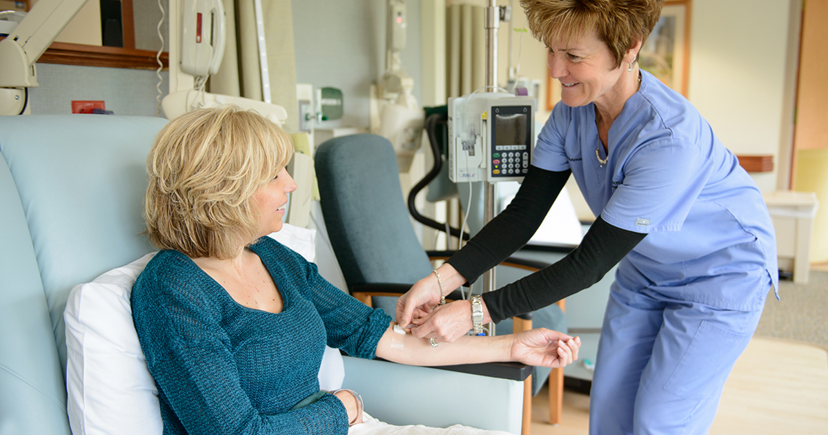 a cancer patient receiving chemotherapy