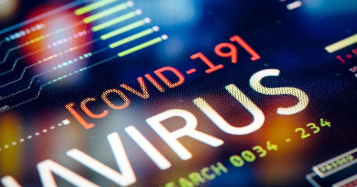 novel coronavirus (covid 19) words on display panel